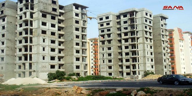 В провинции Дамаск в районе Ад-Димас полным ходом идет строительство жилого комплекса