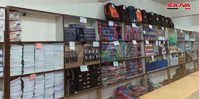 В провинциях Дараа и Сувейда Управление торговли Сирии открыло ярмарку школьных принадлежностей
