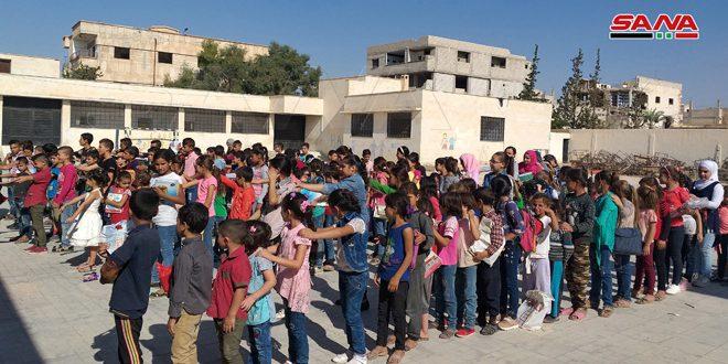 В Тадморе с возвращением жителей открылось несколько школ после их восстановления