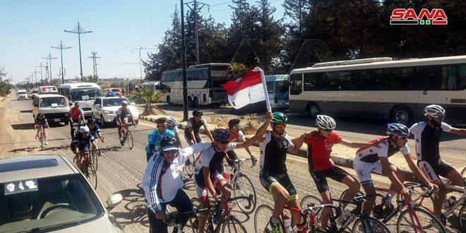 Марш велосипедистов «Факел Победы» продолжается