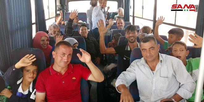 Через КПП «Насиб» из Иордании вернулась новая группа сирийских беженцев