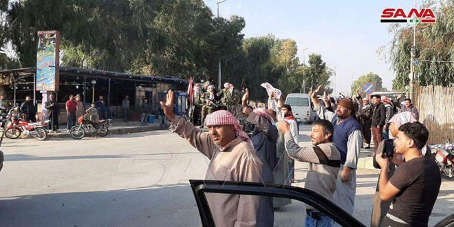 Под приветствия жителей Сирийская Арабская армия продолжает развертывание в провинции Хасаке