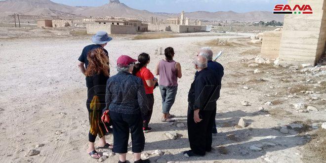 Группа туристов из США посетила Пальмиру