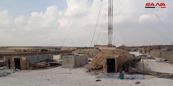 Корреспондент агентства САНА на освобожденной военной базе США «Ас-Саедия» к юго-западу от Манбиджа