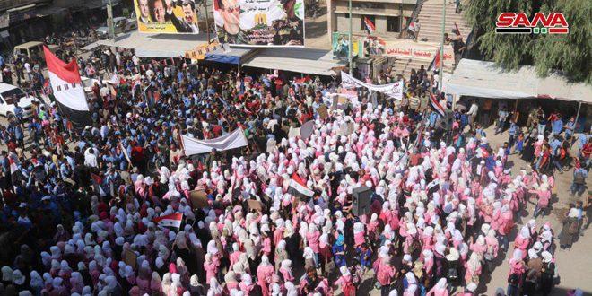 Жители провинции Дейр-эз-Зор осуждают турецкую агрессию и приветствуют победы Сирийской армии
