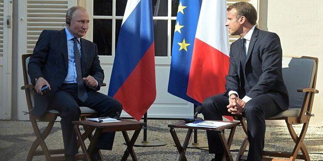 Состоялись телефонные переговоры Путина и Макрона