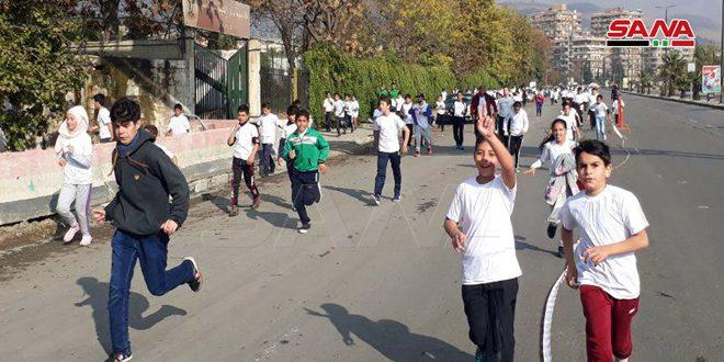 Стартовал первый Дамасский марафон для поддержки людей с ограниченными интеллектуальными возможностями