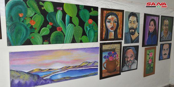 В Латакия проходит художественная выставка работ детей-аутистов