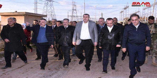 Министерская делегация посетила экономические объекты на юго-западе Алеппо