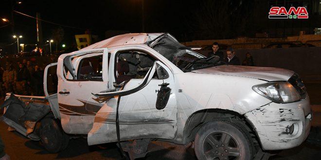 В Дамаске при взрыве заминированного автомобиля пострадал сотрудник Арабского рекламного агентства