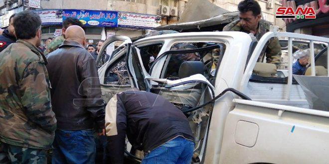 В Дамаске в районе Аль-Марджа в результате взрыва два человека получили ранения