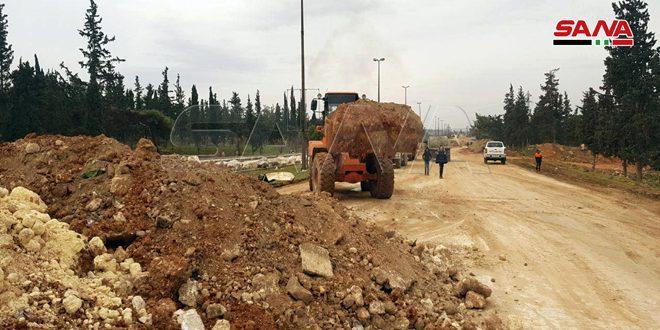 Ремонтные бригады приступили к расчистке автотрассы Алеппо — Дамаск