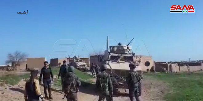 Армия и жители окрестностей Эль-Камышлы преградили дорогу американской колонне