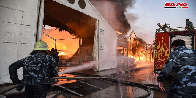 В Дамаске потушен пожар