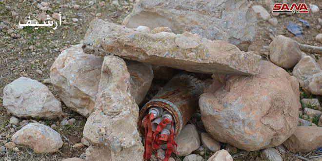 В провинции Дараа в поселке Ат-Тейха демонтировано СВУ с большим количеством взывчатки