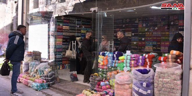 На древний Рынок шерсти в Старом городе Алеппо возвращается жизнь