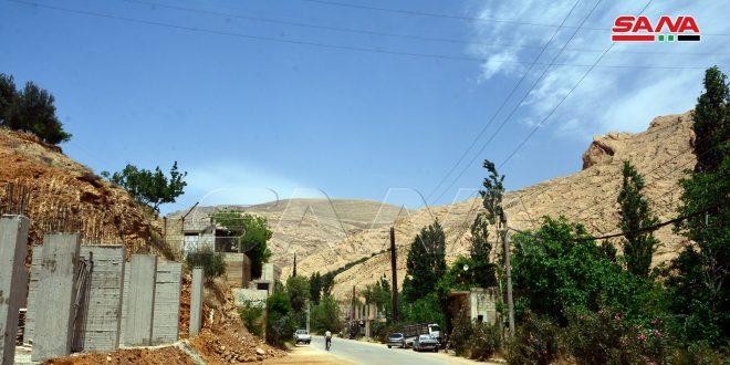 Привычный уклад жизни восстанавливается в селении Бассима в районе Вади Барада провинции Дамаск