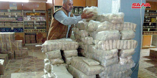 В Сувейду доставлена партия субсидируемых продуктов, отпускаемых по электронной карте
