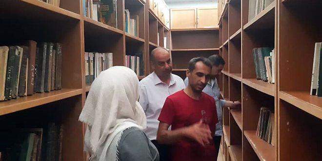 Жители Думы восстанавливают разрушенную террористами библиотеку Дворца культуры