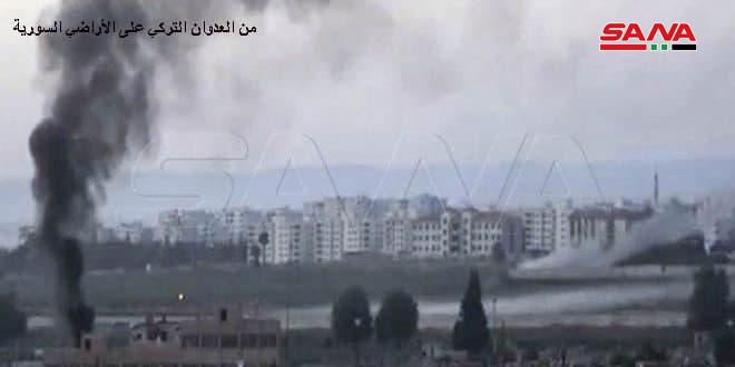 Второй день турецкие оккупанты обстреливают поселок Тель-Манас в провинции Идлеб