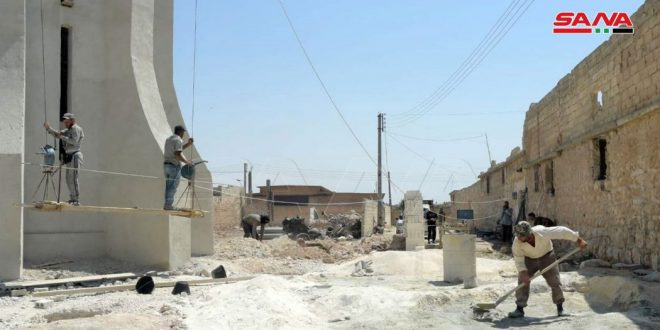 В провинции Алеппо проводят питьевую воду в освобожденные от терроризма районы