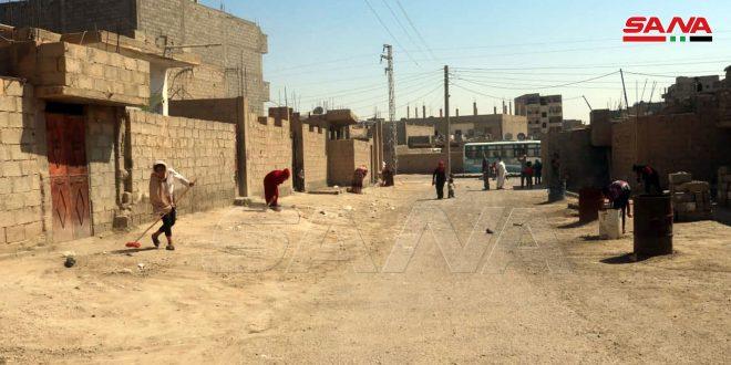 В городе Дейр-эз-Зор в квартале Мухаджирин запущена кампания по уборке улиц