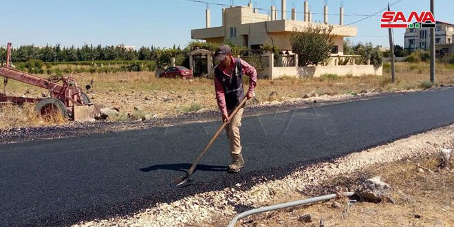 На севере провинции Кунейтра завершен восстановительный ремонт дорог