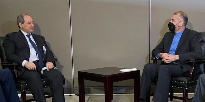 Аль-Мекдад обсудил в Нью-Йорке с главами МИД Ирана, Омана и Ирака укрепление отношений в различных областях