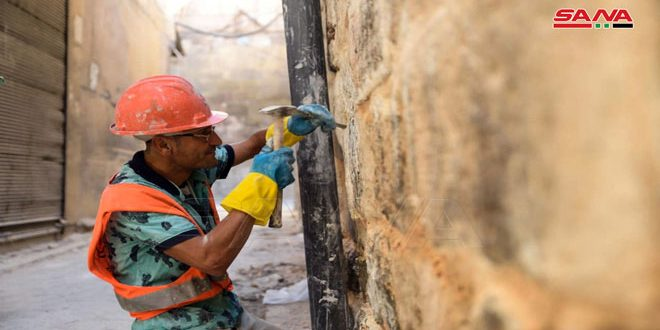 В Алеппо ведутся реставрационные работы древнего рынка Аль-Ахмадия(фото)
