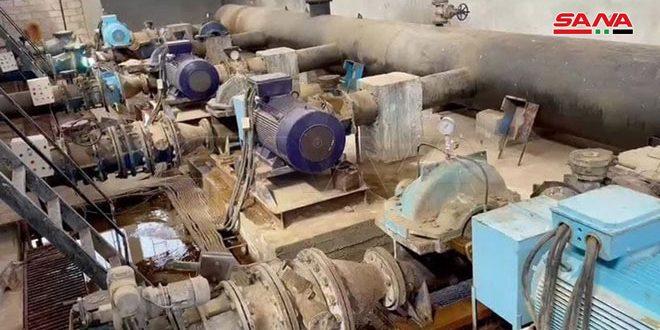 Техобслуживание водопроводной станции «Аллюк» в Хасаке