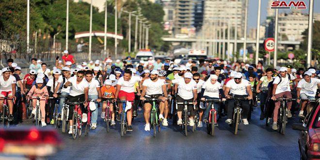 Bisiklet Kullanıcıları Barış Suriyesinden Dünyaya Mesaj Verdi (video)