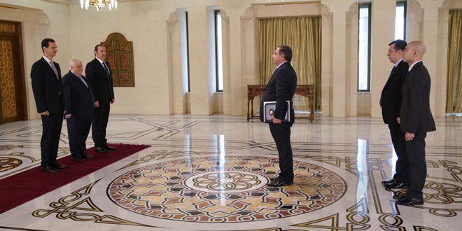 Cumhurbaşkanı Esad Ermenistan ve Endonezya Büyükelçilerinin güven mektuplarını kabul ediyor