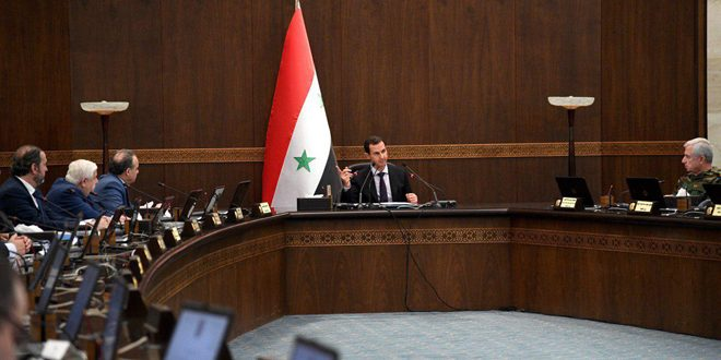 Cumhurbaşkanı el Esad; kabinenin periyodik oturumuna başkanlık ediyor