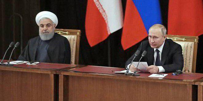 Putin ve Ruhani: Suriye'nin toprak bütünlüğü, Egemenliğini ve Bağımsızlığını Koruma Zorunluluğu