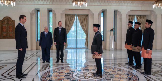 Esad Endonezya ve Güney Afrika Büyükelçilerinin Güven Mektuplarını Kabul Etti