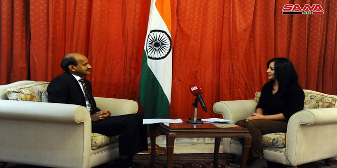 Hindistanın Şam Büyükelçisi: Suriye'nin Egemenliği, Toprak Bütünlüğü ve Terörizmle Mücadele Hakkını Destekliyoruz