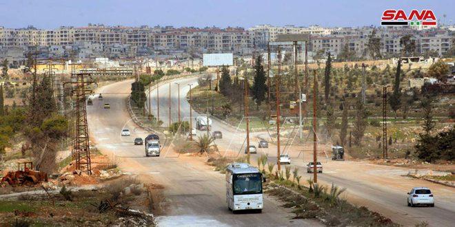 Şam-Halep Karayolu Resmi Olarak Trafiğe Açıldı