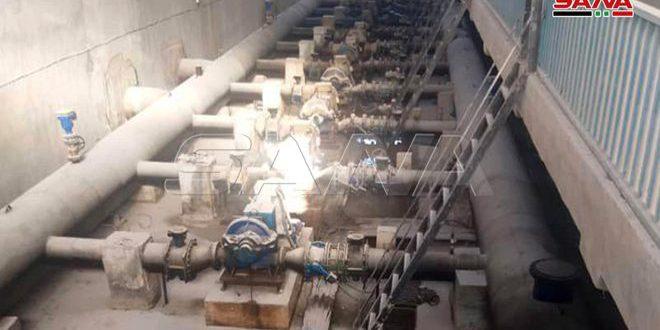 Alluk Su İstasyonundan Haseke Ve Onu Çevreleyen Bölgelere Acil Su Pompalanmaya Başlandı