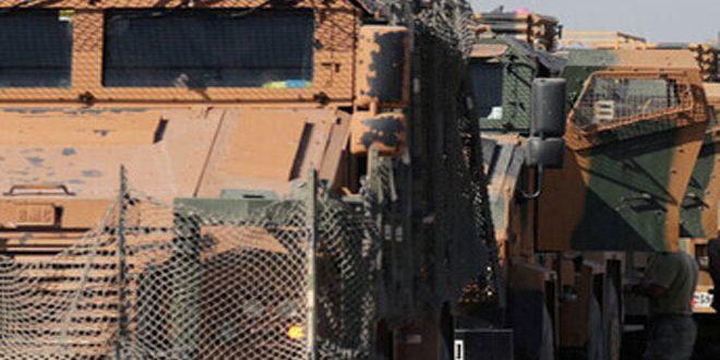İşgalci Türkiye Meşru Olmayan Üslerine Tank Ve Zırhlı Araç Geçirdi