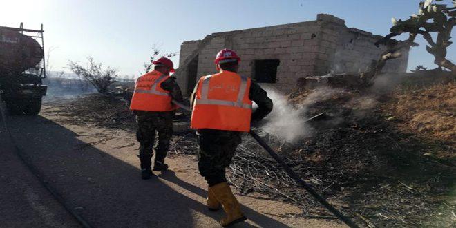 Homs Kırsalında Zeytin, Buğday ve Selvi Tarlalarında Çıkan İki Yangın Söndürüldü