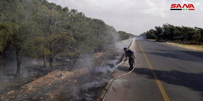 Homs İli'nin Farklı Bölgelerinde Çıkan Dört Yangın Söndürüldü