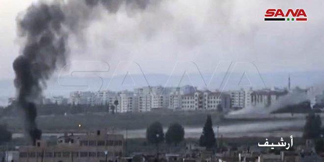Türk İşgal Güçleri'nden Haseke'nin Abu Raseyn Nahiyesi köylerine Top Saldırısı