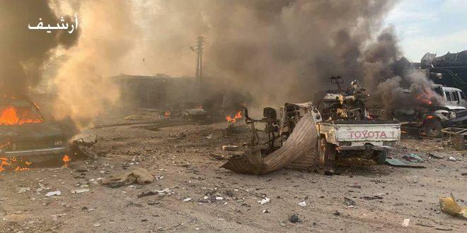 """Rasul Ayn'da """"DSG"""" Milislerine Bağlı Askeri Araçta Bomba Düzeneği Patladı"""