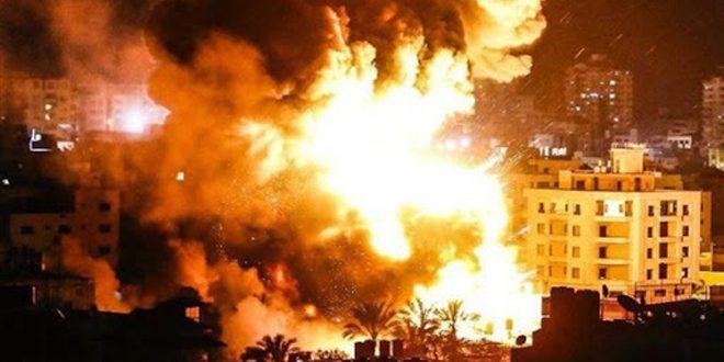 İşgalci İsrail Uçakları Gazze Kesimine Karşı Yeni Bir Saldırı Başlattı