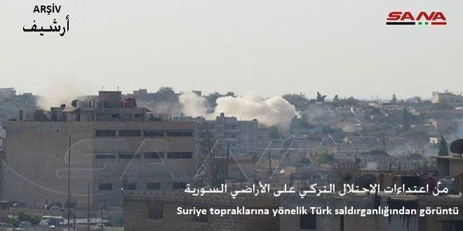 Türk İşgali ve Kiralık Teröristleri Tel Abyad'ın Batısındaki Kızali Köyünü Hedef Aldı