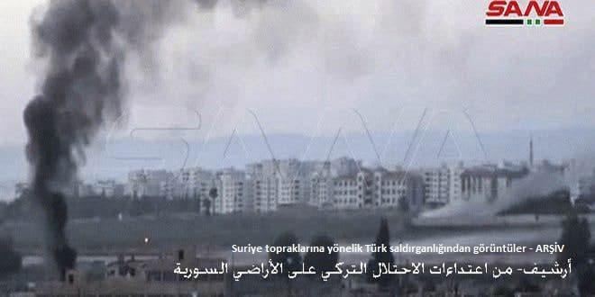 Türk İşgali ve Çeteleri Ayn İsa Kenti ve Civarındaki Güvenli Alanlarını Bombalıyor