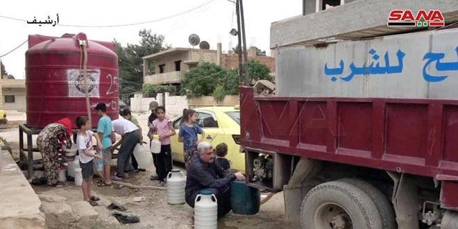 Türk İşgali ve Çeteleri Haseke'den Su Kesmeye Devam Ediyor… Tankerlerle Ahalilere Taşınan Su Miktarını Artırıldı