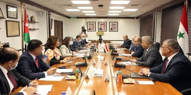 Amman'da Suriye-Ürdün Bakanları Arasında İkili İşbirliğini Geliştirmenin Yollarını Görüşmek Üzere Bir Araya Geldi