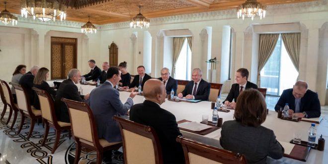 Cumhurbaşkanı Esad, Lavrentiev Ve Verşinin'i Kabul Etti. Suriye ile Rusya Arasındaki İşbirliği Alanlarını Ele Aldılar