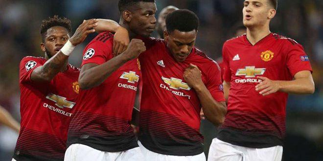 يونايتد يتغلب على يانغ بويز بثلاثية في دوري أبطال أوروبا بكرة القدم